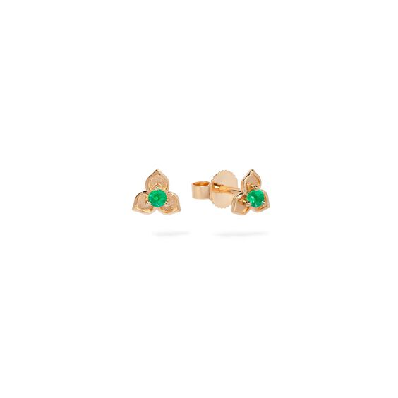 Tokens 14ct Gold Emerald Studs | Annoushka jewelley