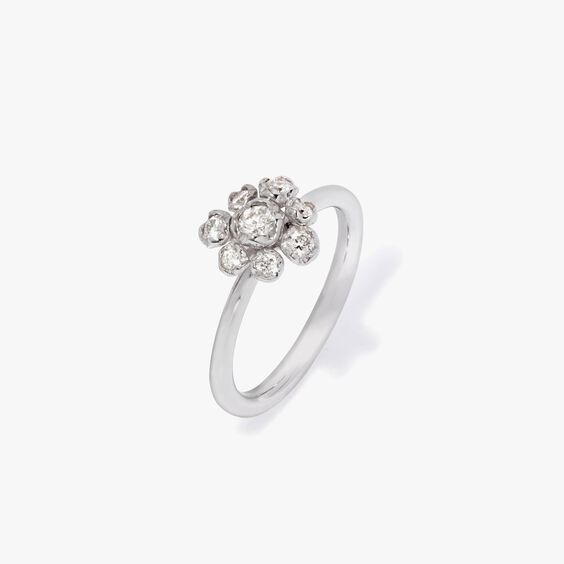 Marguerite 18ct White Gold Diamond Large Ring   Annoushka jewelley