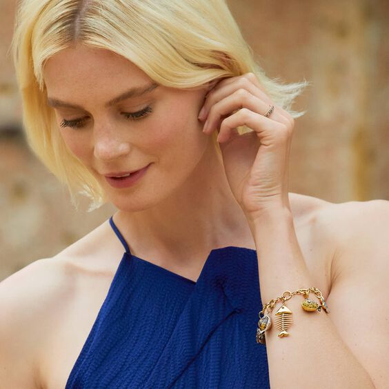 18ct Gold My Life in Seven Charm Bracelet | Annoushka jewelley