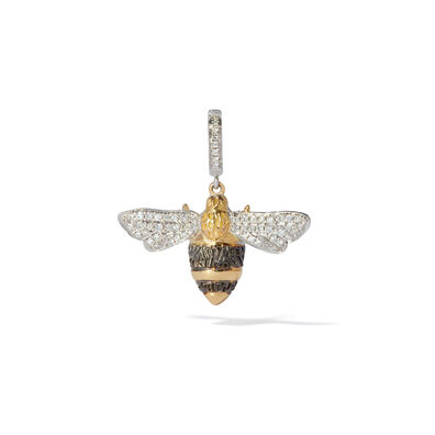 Mythology 18ct Gold Diamond Bumble Bee Pendant
