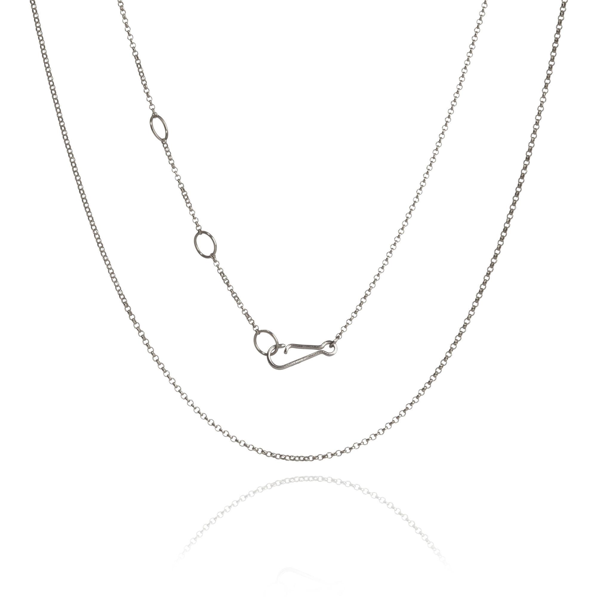 b8ae13c465c82 18ct White Gold Fine Belcher Chain
