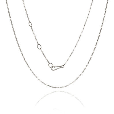 18ct White Gold Fine Belcher Chain