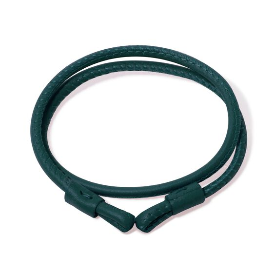 41cms Green Leather Bracelet | Annoushka jewelley