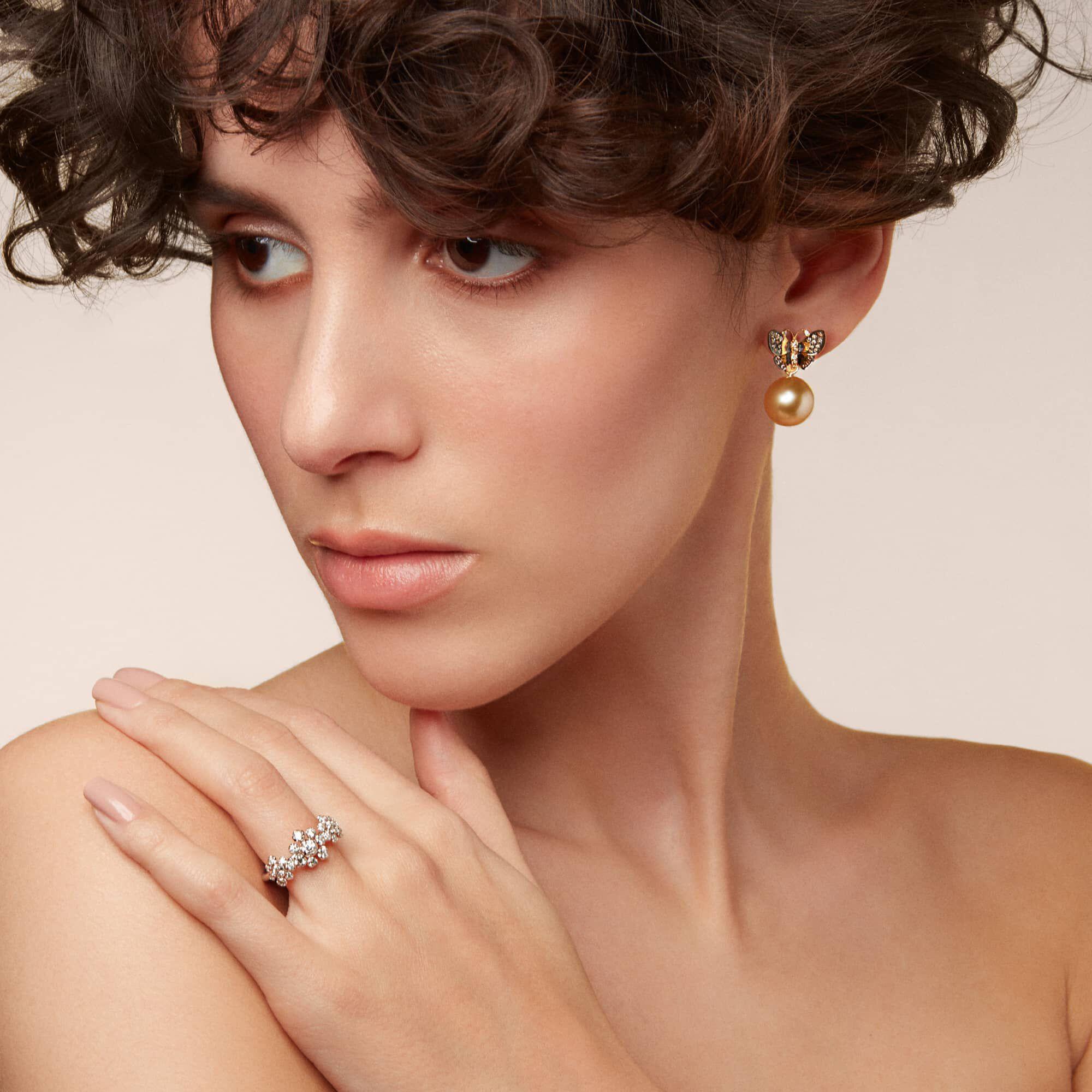 Marguerite 18ct White Gold Diamond Triple Ring Annoushka Us