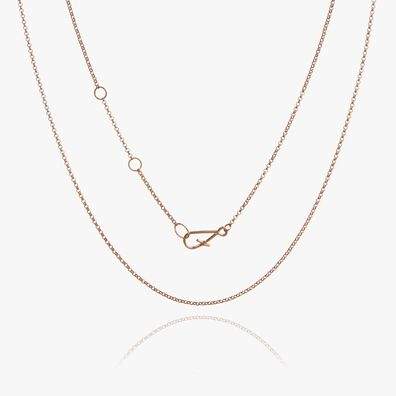 14ct Rose Gold Classic Short Chain