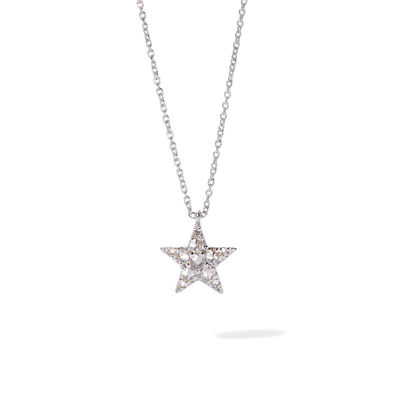 Love Diamonds 18ct White Gold Diamond Star Necklace