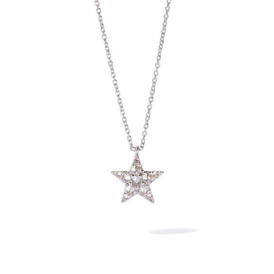 Love Diamonds 18ct White Gold Diamond Star Necklace | Annoushka jewelley