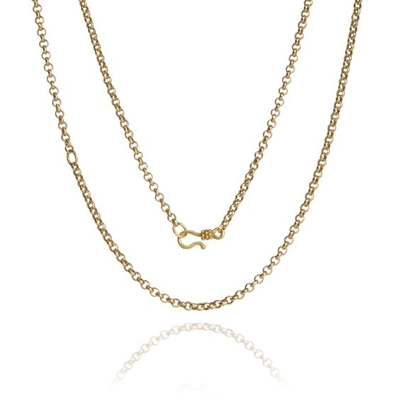 18ct Gold Belcher Long Chain   Annoushka jewelley