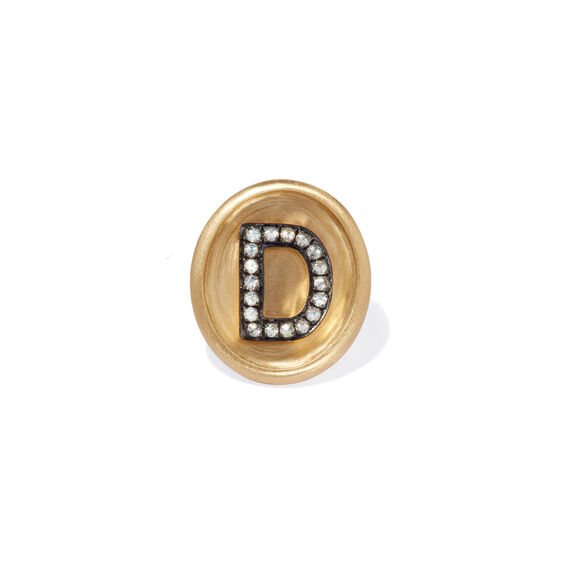 18ct Gold Diamond Initial D Face | Annoushka jewelley