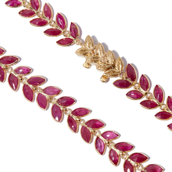 18ct Gold Ruby Vine Bracelet | Annoushka jewelley