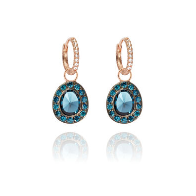 Dusty Diamonds 18ct Rose Gold Topaz Earrings