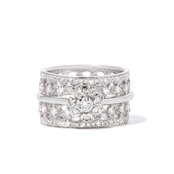 Marguerite 18ct White Gold Ring Stack | Annoushka jewelley
