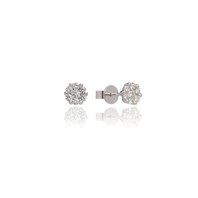 Daisy 18ct White Gold 0.54ct Diamond Studs