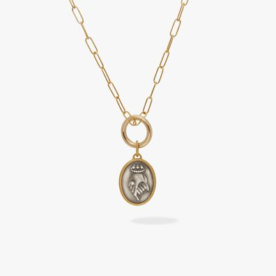 14ct Gold Helping Hands Necklace
