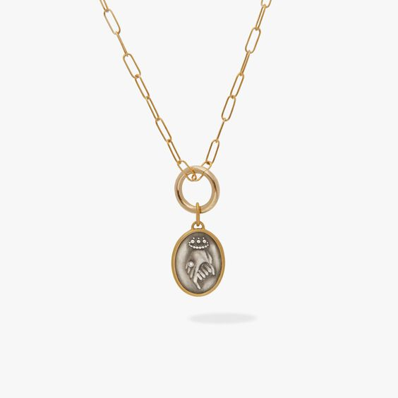 14ct Gold Helping Hands Necklace | Annoushka jewelley