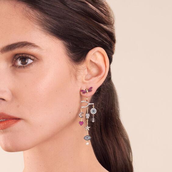 Love Diamonds 18ct Yellow Gold Diamond Chandelier Left Earring | Annoushka jewelley