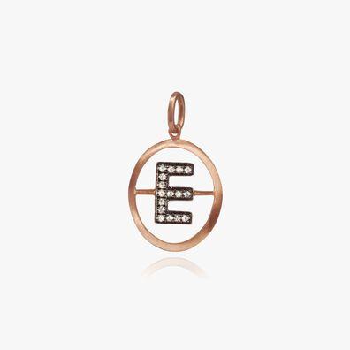 18ct Rose Gold Initial E Pendant