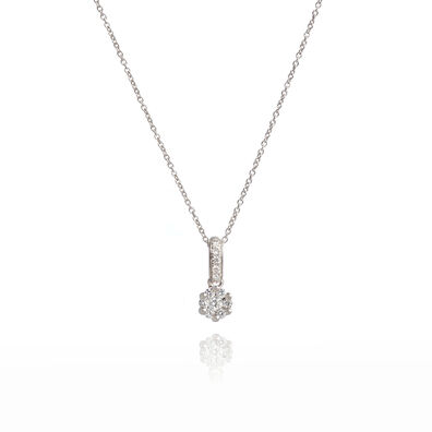 Daisy 18ct White Gold 0.15ct Diamond Necklace