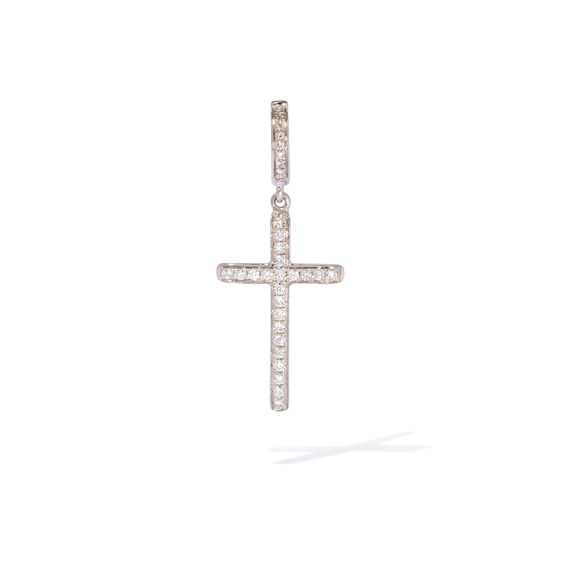 Eclipse 18ct White Gold Diamond Cross Pendant