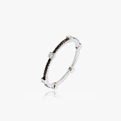 Pavilion 18ct White Gold Black Diamond Eternity Ring