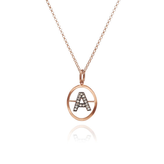 18ct Rose Gold Initial A Necklace | Annoushka jewelley