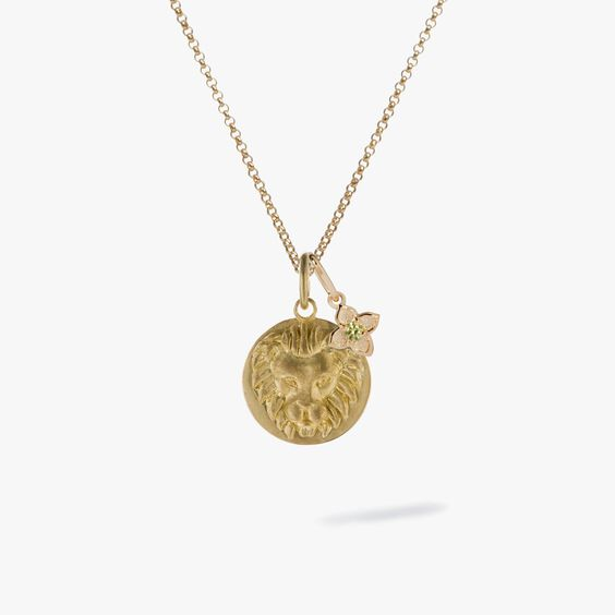 Gold Leo & Peridot August Birthstone Necklace | Annoushka jewelley
