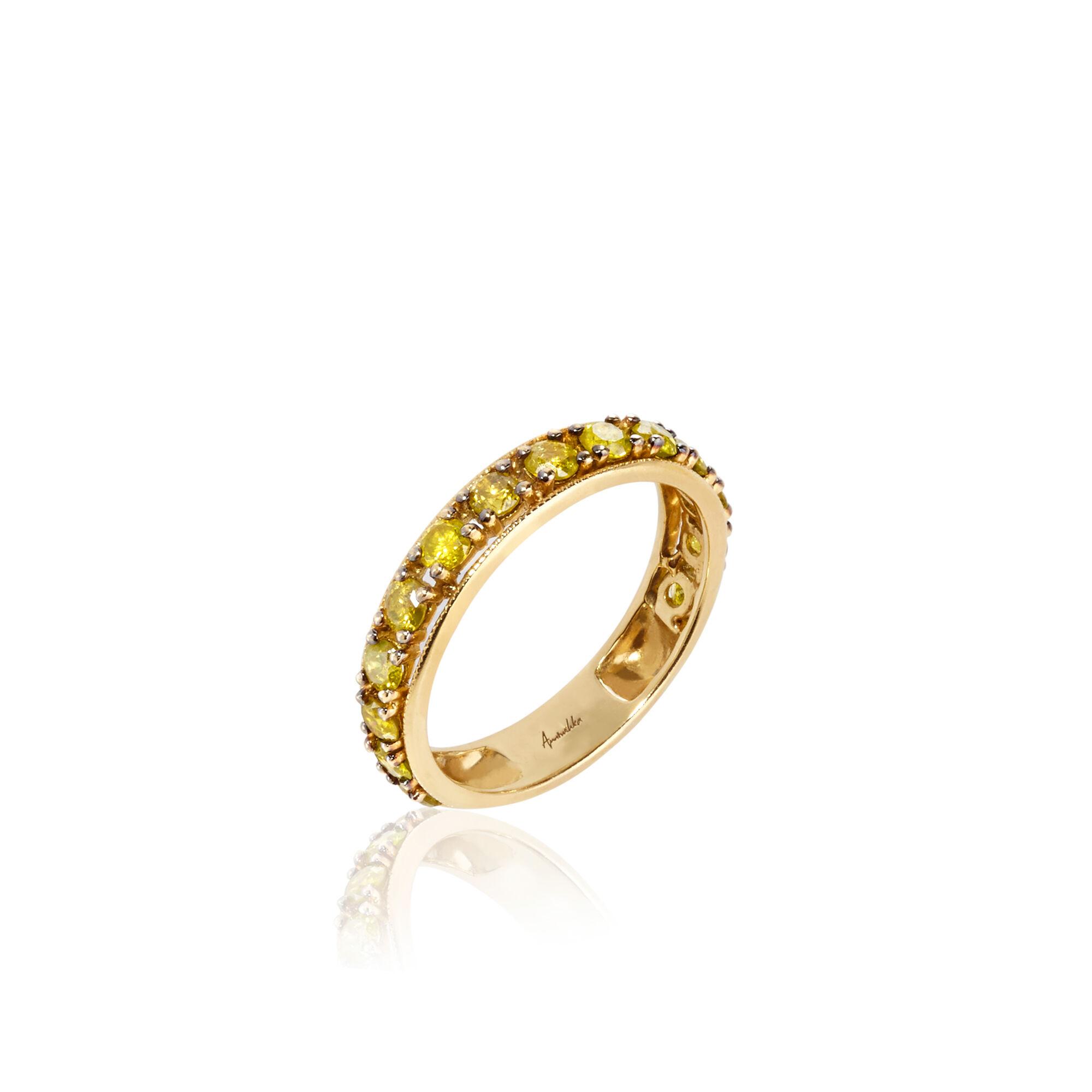 dusty diamonds 18ct yellow gold eternity ring annoushka uk. Black Bedroom Furniture Sets. Home Design Ideas