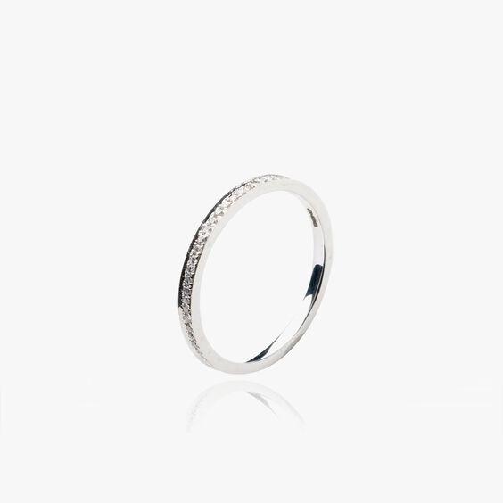Eclipse 18ct White Gold Diamond Eternity Ring