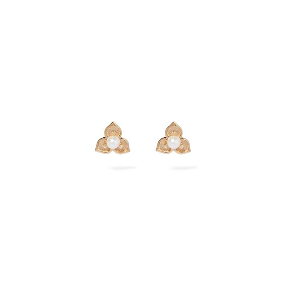 Tokens 14ct Gold Pearl Studs | Annoushka jewelley