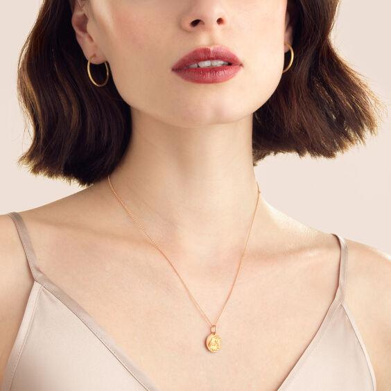 Mythology 18ct Rose Gold Capricorn Necklace | Annoushka jewelley