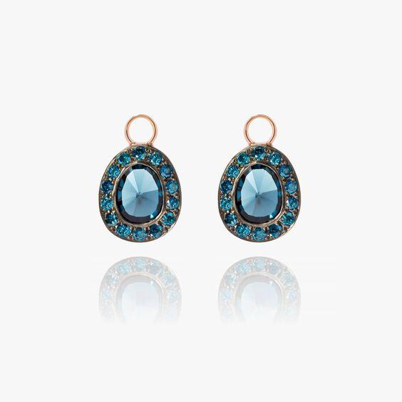 Dusty Diamonds 18ct Rose Gold Topaz Earring Drops | Annoushka jewelley