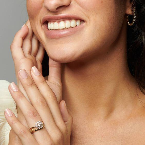 Marguerite 18ct Gold 0.25ct Diamond Ring | Annoushka jewelley