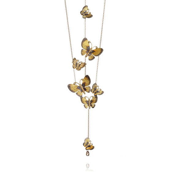 Butterflies 18ct Gold Diamond Necklace | Annoushka jewelley