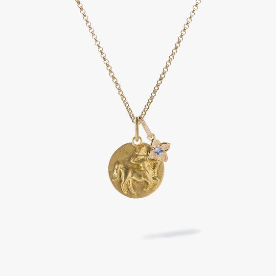 Gold Sagittarius & Tanzanite December Birthstone Necklace | Annoushka jewelley