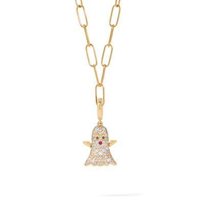 Mythology 18ct Gold Diamond Ghost Necklace
