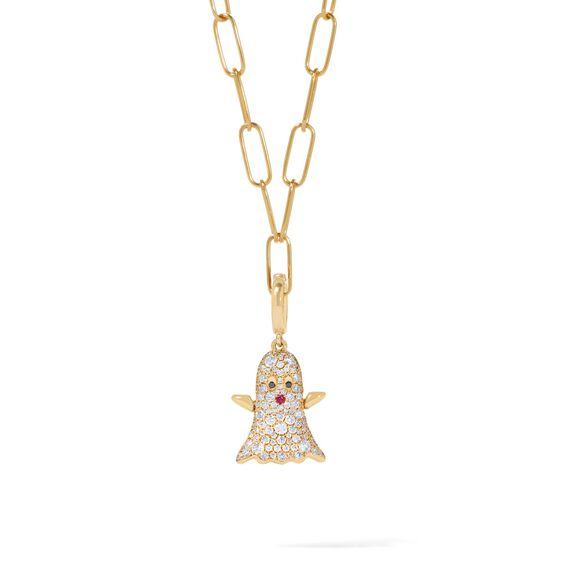 Mythology 18ct Gold Diamond Ghost Necklace   Annoushka jewelley