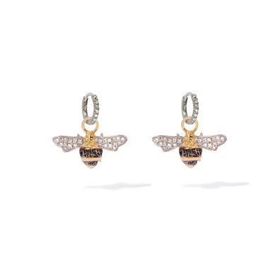 Mythology 18ct White Gold Diamond Bee Earrings