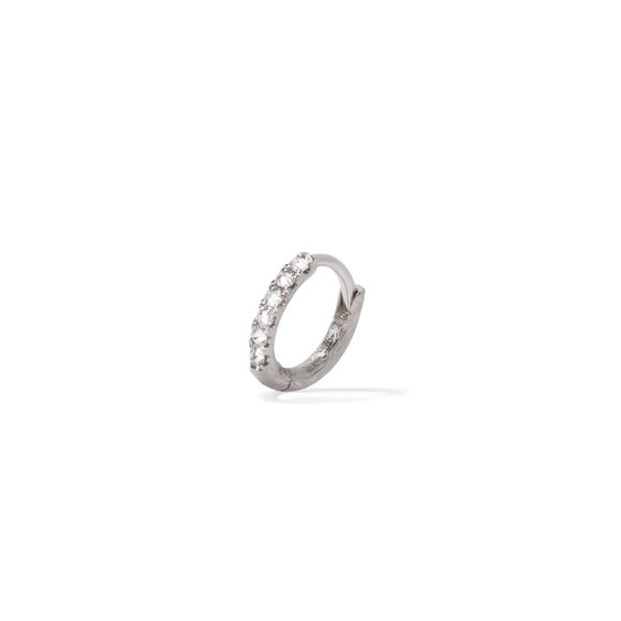 Dusty Diamonds 18ct White Gold Diamond 10mm Hoop | Annoushka jewelley