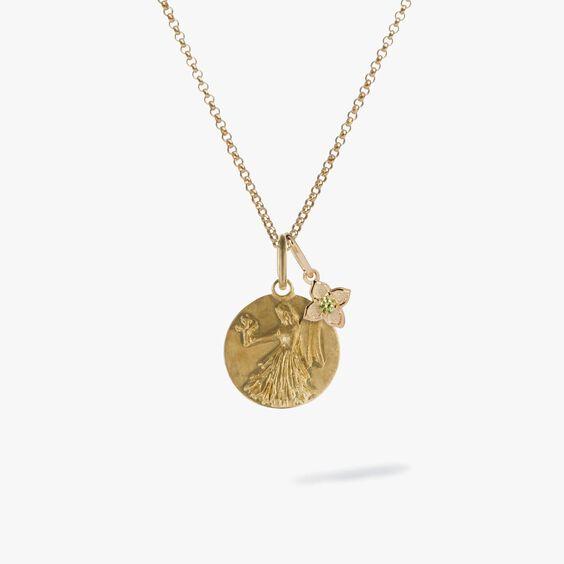 Gold Virgo & Peridot August Birthstone Necklace | Annoushka jewelley