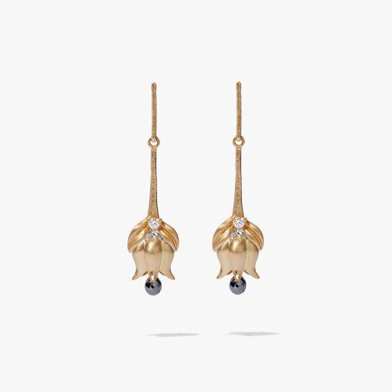 18ct Gold Tulip Diamond Earring Drops | Annoushka jewelley