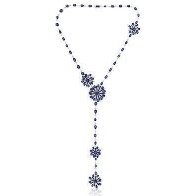 Sutra Sapphire & Diamond Necklace