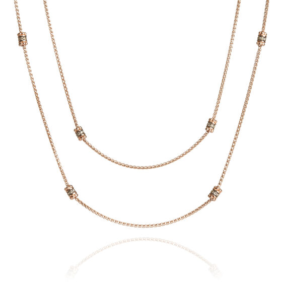Alchemy 18ct Rose Gold Diamond Long Chain | Annoushka jewelley