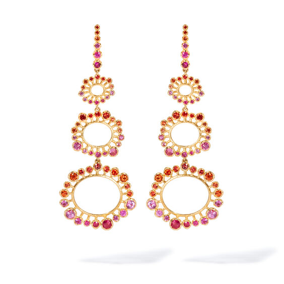 Hidden Reef 18ct Gold Sapphire Earrings | Annoushka jewelley