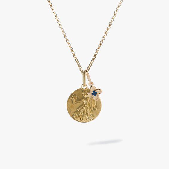 Gold Virgo & Sapphire September Birthstone Necklace | Annoushka jewelley