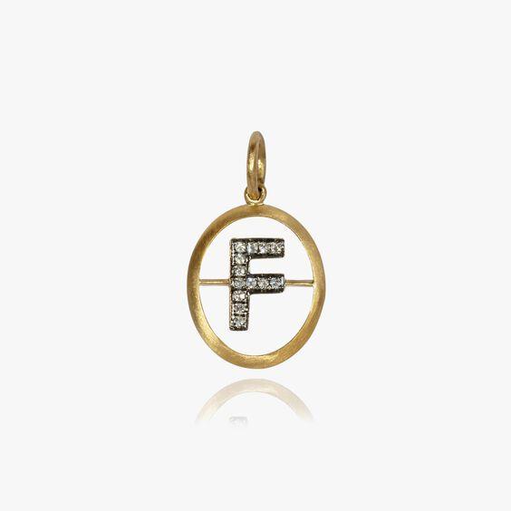 18ct Gold Diamond Initial F Pendant | Annoushka jewelley