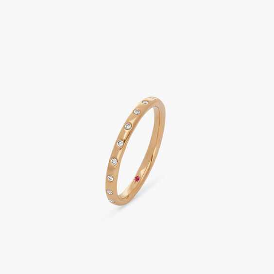 18ct Gold Diamond 2mm Wedding Band