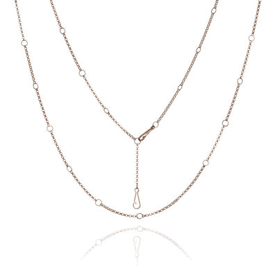 Hoopla 18ct Rose Gold Long Chain
