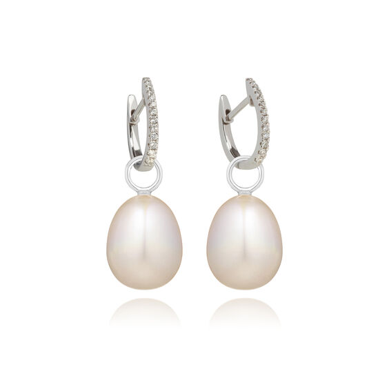 18ct White Gold Annoushka Favourites Pearl Earrings | Annoushka jewelley