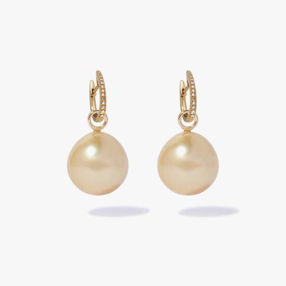 18ct Gold Diamond South Sea Drop Earrings | Annoushka jewelley