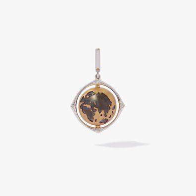 Mythology 18ct Gold Diamond Spinning Globe Charm